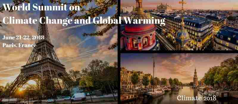 World Summit on Climate Change and Global Warming in Paris on 21 Jun