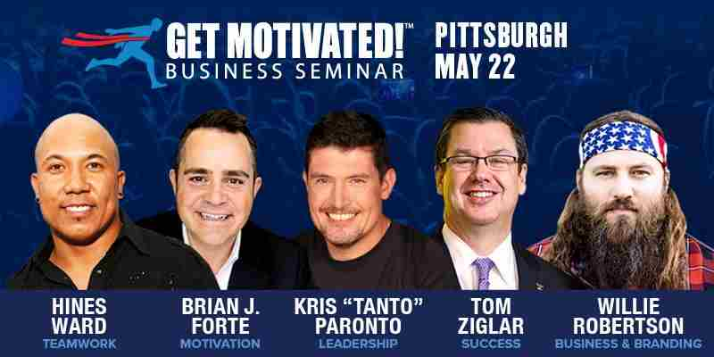 Willie Robertson, Hines Ward & Kris Paronto LIVE Get Motivated! Pittsburgh in Pittsburgh on 22 May