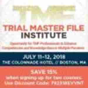 Trial Master File Institute in Boston on 11 July 2018