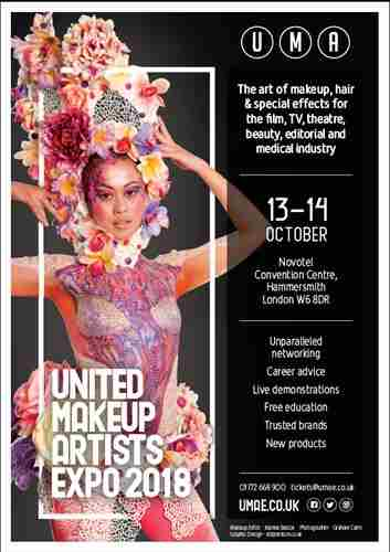 United Makeup Artists Expo in London on 13 Oct