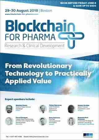 Blockchain for Pharma: Research and Clinical Development Summit in Boston on 29 Aug