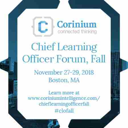 Chief Learning Officer Forum, Fall in Boston on 27 Nov