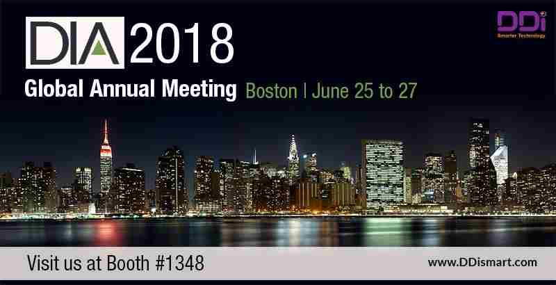 DDi to Exhibit at the 2018 DIA Global Annual Meeting, June 25-27 in Boston, MA in Boston on 25 June 2018