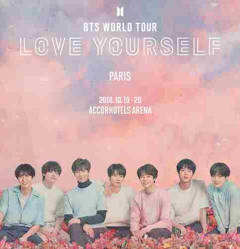 En tournée mondiale : LOVE YOURSELF in Paris on 19 Oct