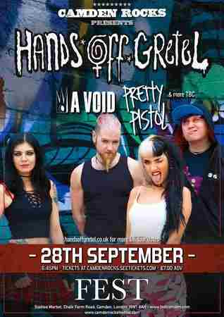 Camden Rocks presents Hands Off Gretel & more at Fest in Greater London on 28 September 2018