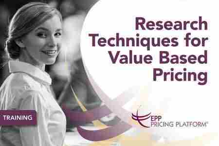 Research Techniques for Value Based Pricing in Londen on 15 November 2018