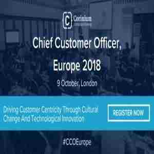 Chief Customer Officer, Europe 2018 in London on 09 October 2018