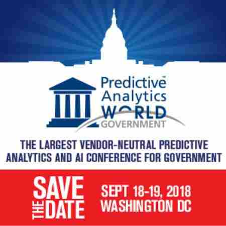 Predictive Analytics World for Government in Washington on 17 Sep