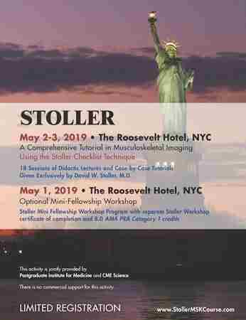 Stoller: A Comprehensive Tutorial in MSK Imaging and Mini-Fellowship in New York on 1 May
