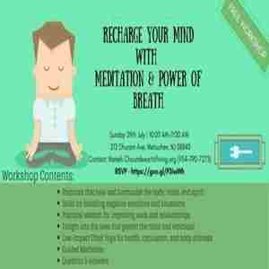 Recharge Your Mind with Meditation & Power of Breath in Metuchen on 29 Jul