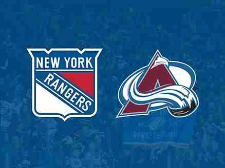 SPORTS  New York Rangers vs. Colorado Avalanche in New York on 16 October 2018