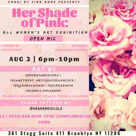 Her Shade of Pink: Art Gallery Event in Brooklyn on Friday, August 3, 2018