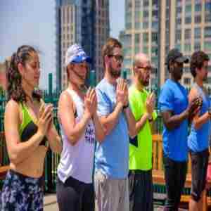DRUNK YOGA® at Solfire...FREE Wine! in Brooklyn on 13 Sep