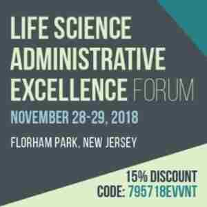 Life Science Administrative Excellence Forum in Florham Park on 28 Nov