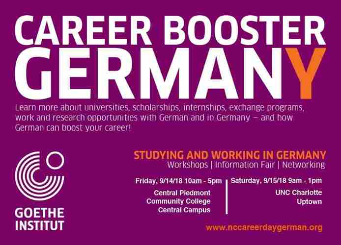 INFORMATION FAIR, WORKSHOPS, NETWORKING STUDYING AND WORKING IN GERMANY in New York on 19 Oct
