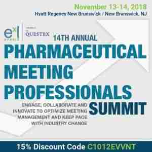 14th Pharmaceutical Meeting Professionals Summit in New Brunswick, NJ on 13 Nov