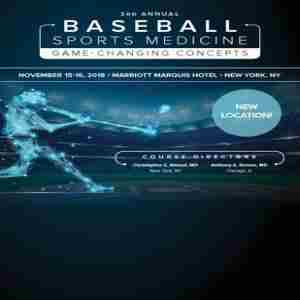 3rd Annual Baseball Sports Medicine: Game Changing Concepts in New York on 15 Nov