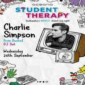 Student Therapy presents Busted's Charlie Simpson in Southampton on 26 September 2018