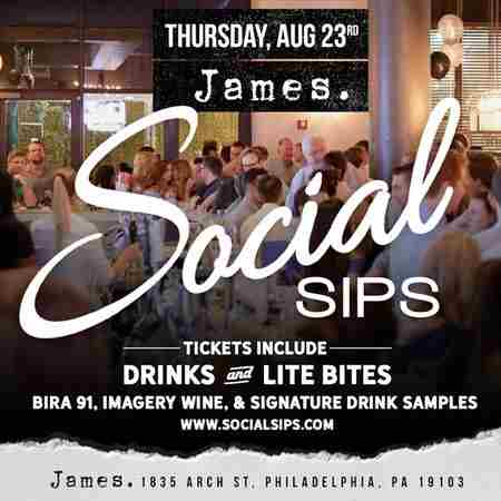 Social Sips - Summer Party at James in Philadelphia on 23 Aug