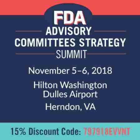 FDA Advisory Committees Strategy Summit in Herndon on 05 November 2018
