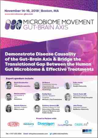 2nd Microbiome Movement - Gut-Brain Axis 2018 in Woburn on 14 Nov