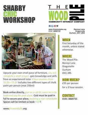 Shabby Chic Workshop in Durham on 20 October 2018