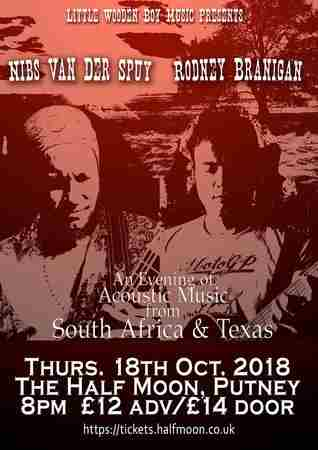 Nibs van der Spuy + Rodney Branigan: South African Texan music Half Moon in Greater London on 18 October 2018