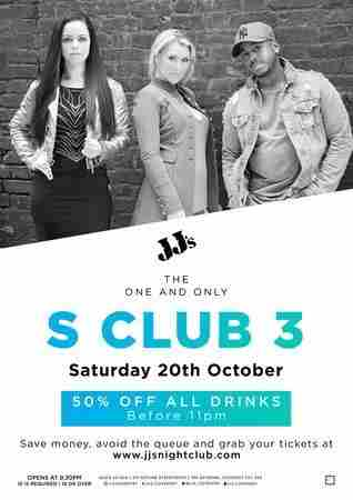 JJ's Presents: S Club 3 in Coventry on 20 October 2018
