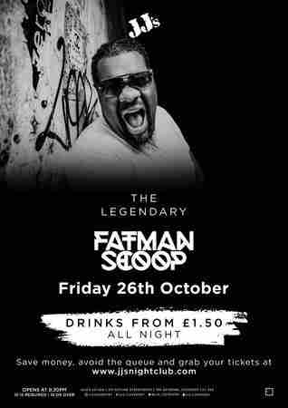 JJ's Presents: The Legendary Fatman Scoop in Coventry on 26 October 2018