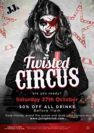 Halloween Twisted Circus in Coventry on 27 October 2018