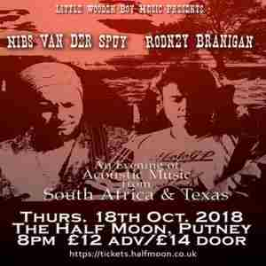 Nibs van der Spuy + Rodney Branigan: South African Texan music Half Moon in London on 18 October 2018