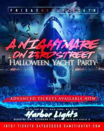 NYC Afterwork Halloween Yacht Party Cruise at Skyport Marina Harbor Lights in New York on 26 October 2018