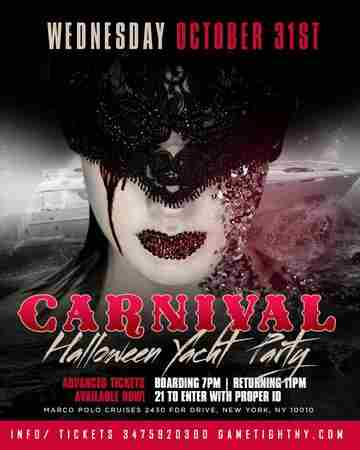 NYC Afterwork Halloween Night Yacht Party Cruise at Skyport Marina Cabana in New York on 31 October 2018