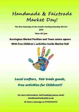 Craft fair!! Handmade and Fairtrade Market Day on 6 Jul 2019 in Accrington on 06 July 2019