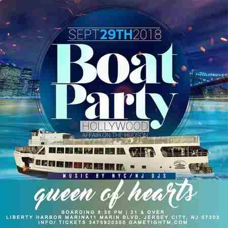 NJ Queen of Hearts Boat Party at Liberty Habor Marina in Jersey City on 29 September 2018