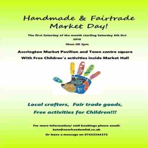 Craft fair!! Handmade and Fairtrade Market Day in Accrington on 3 Oct