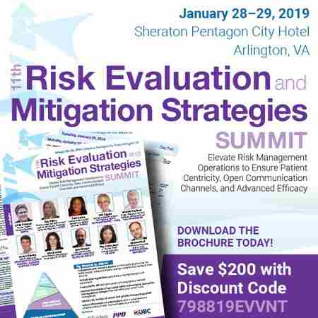 11th Risk Evaluation and Mitigation Strategies Summit in Arlington on 28 Jan