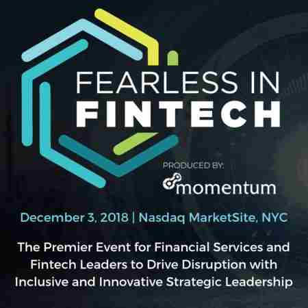 Fearless in FinTech | New York City, 2018 in New York on 03 December 2018