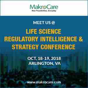 MakroCare to Exhibit at Life Science Regulatory Intelligence & Strategy in Arlington on 18 October 2018