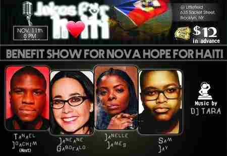 Jokes For Haiti - A Benefit Show for Nova Hope For Haiti in Brooklyn on 11 Nov