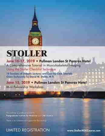 Stoller: A Comprehensive Tutorial in MSK Imaging and Mini-Fellowship in Greater London on 15 Jun