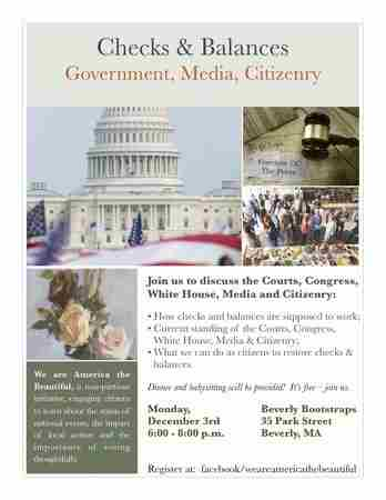 Checks & Balances:Government, Media, Citizenry in Manchester on 3 Dec