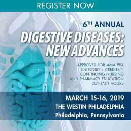 6th Annual Digestive Diseases: New Advances in Philadelphia on 15 Mar