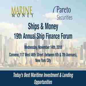 19th Annual Ship Finance Forum - Ships and Money in New York on 14 Nov