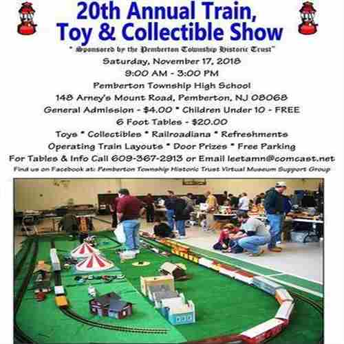 20th Annual Train, Toy and Collectible Show in Pemberton on 17 Nov