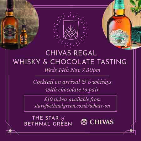 Whisky & Chocolate with Chivas Regal - Bethnal Green in Greater London on 14 Nov
