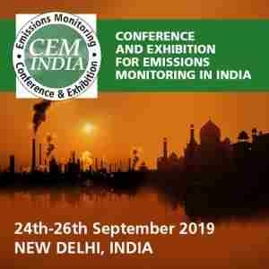 CEM India Emission Monitoring 24-26th September 2019 Delhi India in Delhi on 24 Sep