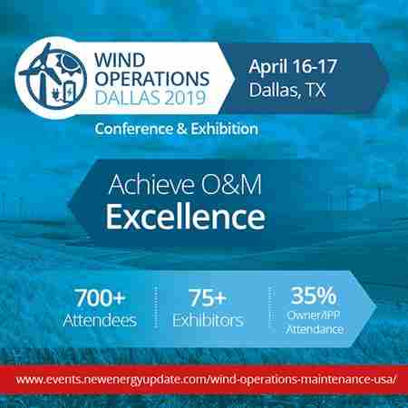 Wind Operations Dallas 2019 (April 16-17 TX) O&M, Asset Management, Storage in Dallas on 16 Apr