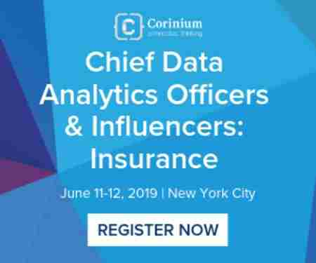 Chief Data Analytics Officers & Influencers: Insurance in New York on Tuesday, June 11, 2019