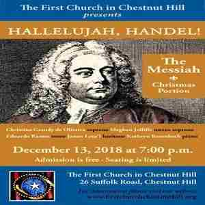 The First Church in Chestnut Hill Proudly Presents HALLELUJAH, HANDEL in Newton on 13 Dec